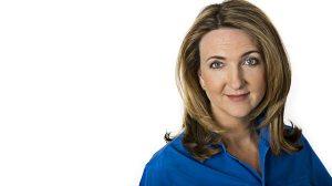Ms Derbyshire. Catch her on BBC2.